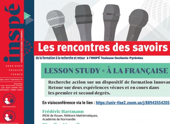 Lesson study « à la française » – Recherche action sur un dispositif de formation innovant
