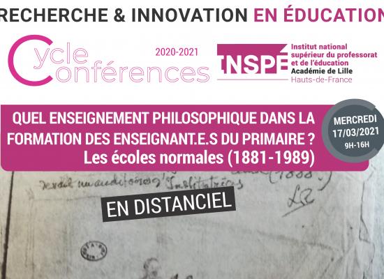 Quel enseignement philosophique dans la formation des enseignant.e.s du primaire ?