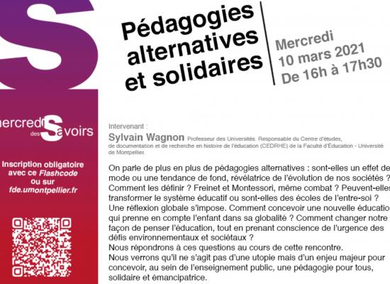 Pédagogies alternatives et solidaires