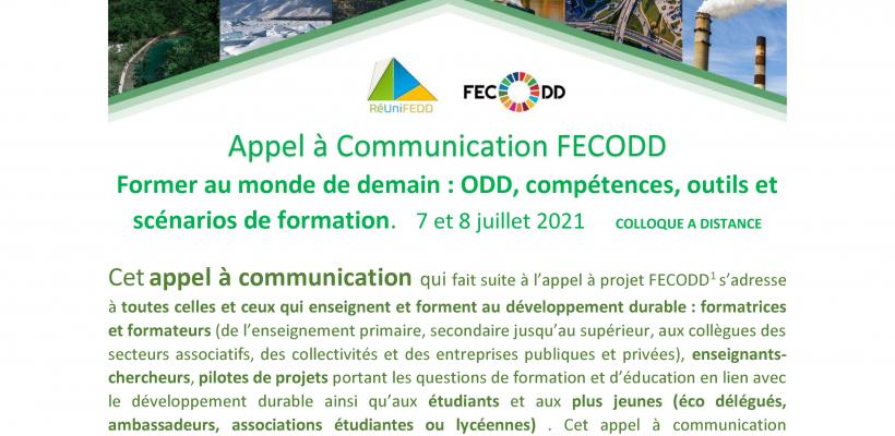 Appel à communications. Former au monde de demain : ODD, compétences, outils et scénarios de formation