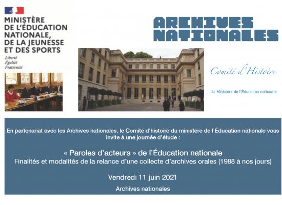 «Paroles d'acteurs» de l'Éducation nationale