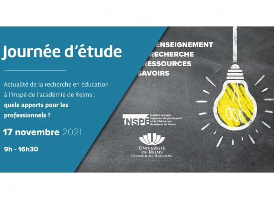 Recherche en éducation à l'Inspé de l'académie de Reims : Quels apports pour les professionnels ?